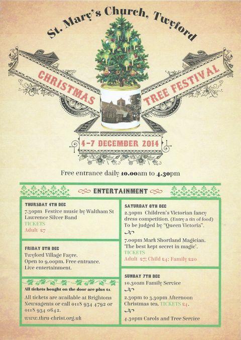 Christmas Tree Festival 2014 poster