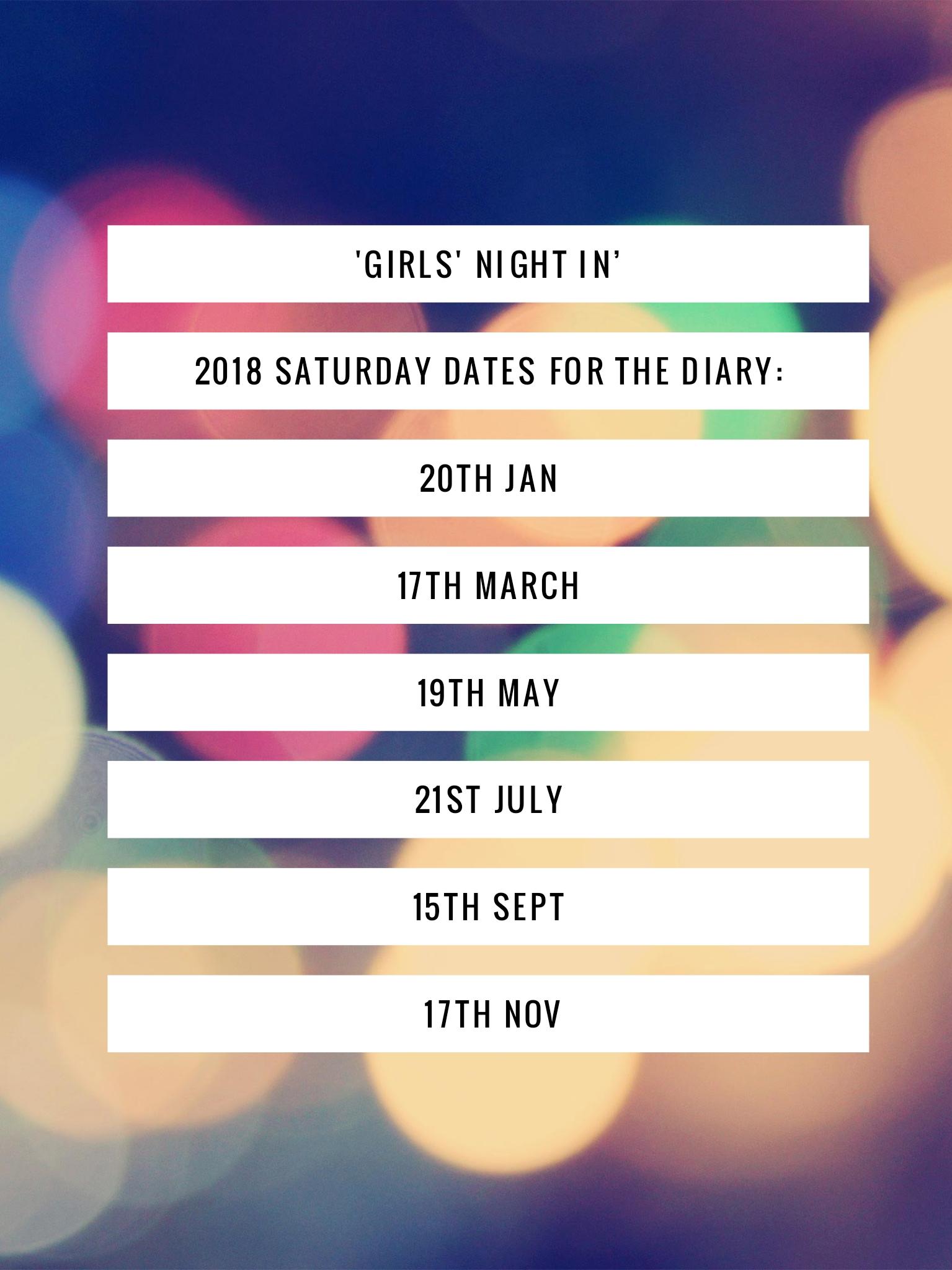 Girls' Night In Dates